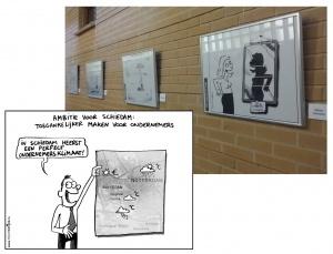 Kernwaardencartoons in het Gemeentehuis Schiedam